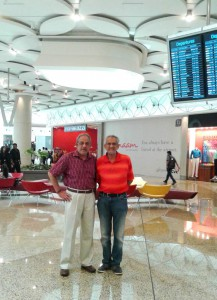 Chance meeting on an earlier visit, with Mushtaq Chhapra of TCF at Mumbai international airport
