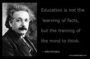 education quote - Einstein