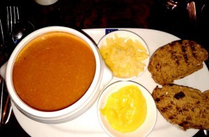 Lobster bisque is my personal #1 favourite soup. This one I relished at a Covent Garden restaurant called Loch Frye
