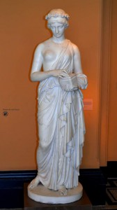 About 5 feet tall sculpture of Pandora (with her box) by John Gibson  in 1860, at the V&A Museum. The term we often use today about opening or not opening Pandora's Box, comes from Greek mythology