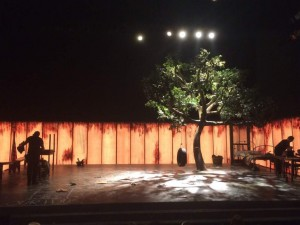 The set of an excellent production of famous novel To Kill a Mocking  Bird, at the impressive Barbican Theatre