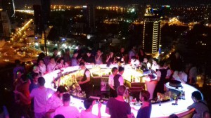 Partying at Chill Sky Bar, 26th Floor